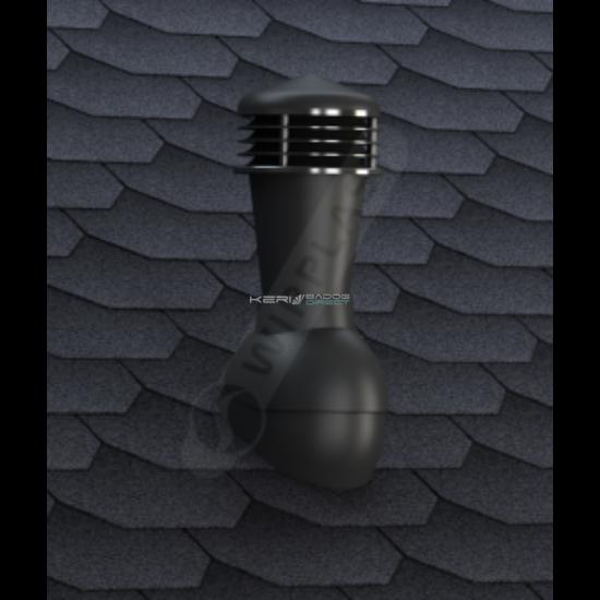 Gravitációs szellőző zsindely, pala, síkcserép fedéshez Ø110mm